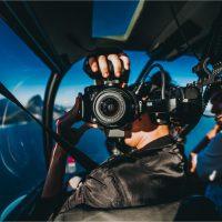 filmagem passeio de helicoptero
